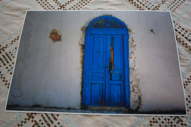 "Imagekind's print of the ""Old Blue Door"""