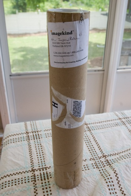 The prints which I ordered arrived in the tube shown
